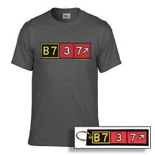 Boeing 737 Airport Taxiway Sign Aviation T-Shirt and Keychain! Pilot Gear