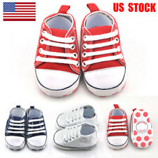 0-18 Months Newborn Infant Toddler Baby Boy Girl Soft Sole Crib Shoes Sneaker US