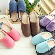 1 Pair Soft Plush Slippers Furry Slippers Bedroom Cotton Slippers