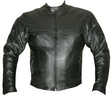 MOTORCYCLE RACING CE ARMOR LEATHER Jacket Black BIKE