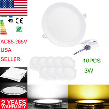 10X Recessed Ceiling Panel LED Light Flat Downlights ,Fixtures Lamp Bulbs 3W-18W