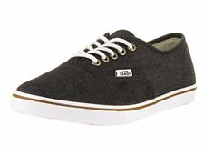 Vans Unisex Authentic Lo Pro (Chambray) Casual Shoe, Black / True White