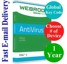 Webroot Secure Anywhere Antivirus 600+ Day Subs (Unique Global Key Code) 2018