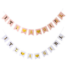 Baby Shower Party Hanging Sign It's A Girl Banner New Baby Gender Reveal Decor