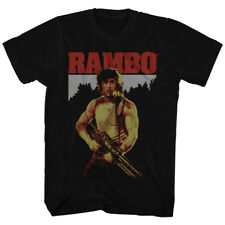 Official T Shirt MENS JOHN RAMBO MOVIE FIRST BLOOD STALLONE Black in SM - 5XL