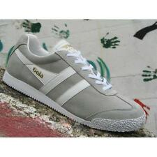 Gola Harrier Suede CMA192GP Mens Shoes Grey White Casual Sneakers