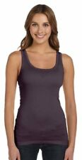 Bella + Canvas Ladies' Sheer Mini Rib Tank, Pale Blue