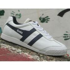 Gola Harrier Leather CMA198WE Mens Shoes White Navy Casual Fashion Sneakers