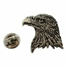 Eagle Head Pin ~ Antiqued Pewter ~ Lapel Pin