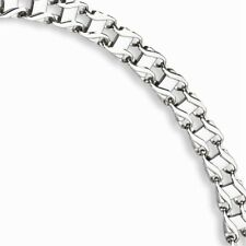 Stainless Steel Men'S Two Row Figure 8 Link Chain Bracelet - 8mm Lobster Claw