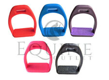 Polymer Stirrups Horse Riding Light Weight Rubber Treads (Horse Sports)