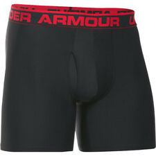 Under Armour O Series 6in Boxerjock 2 Pk Mens Underwear Boxer Shorts - Black