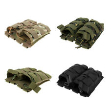 Tactical Molle Bag Hunting Hiking 2 Pockets Waist Belt Bag Accessory Pouch
