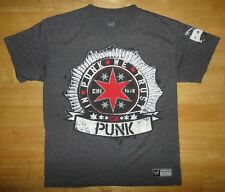 WWE Authentic CM PUNK - IN PUNK WE TRUST BEST IN THE WORLD Gray Shirt - Youth Lg