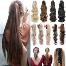Mega Thick Claw on Ponytail Clip in Hair Extensions Soft Long As Real US Lady P4