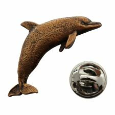 Dolphin Pin ~ Antiqued Copper ~ Lapel Pin