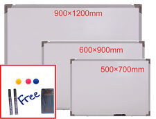 Magnetic Whiteboard Dry Wipe Notice Board With Pens For Classroom Office Home