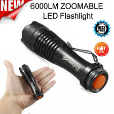 Skywolfeye 10000LM XM-L T6 Flashlight Zoomable CREE LED Torch Light Rechargeable