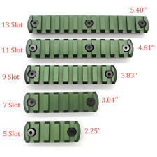 Olive Green 5,7,9,11,13 Slots Picatinny/Weaver Rail Section for Keymod Handguard