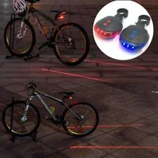 LED Bicycle Bike Light Night Mountain 5 LED+ 2 Laser Tail Light MTB Safety Lamp