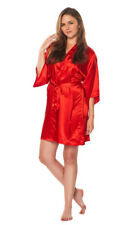 Women Luxury Robe Silk Satin Kimono Short Wrap bath Gown Wedding Bridesmaid Gift