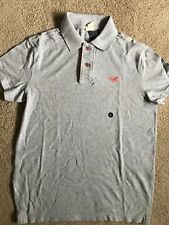 NWT Hollister By Abercrombie Mens Polo Shirt Slim Fit GRAY, SMALL