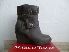 MARCO TOZZI Women's Boots Ankle Boots Ankle Boot Boots Wedge Heel Brown NEW
