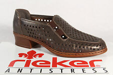 Rieker Slipper Shoes Ballet Flats Court Shoes Real Leather Bronze NEW