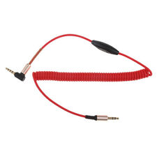 3.5mm Male to Male Aux Cable Cord Right Angle Audio Headphone Jack With Mic