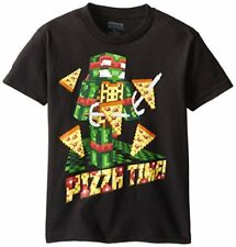 Nickelodeon Teenage Mutant Ninja Turtles Boys' Pizza T-Shirt, Black