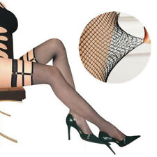 Woman Lace Sexy Stockings Fishnet Top Punk Thigh High Hold-up Hollow Long Socks