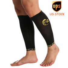 Compression Copper Leg Calf Sleeve Running Outdoor Sports Support Shin Socks US
