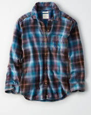 NWT Womens sizes S, M, L American Eagle Outfitters destroyed plaid flannel shirt