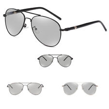 Photochromic Mens Polarized Aviator Driving Sunglasses Eyewear Vintage Party