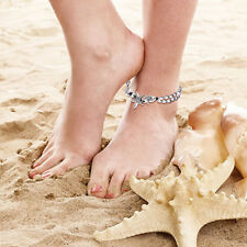 MagiDeal 32cm Starfish Beads Anklet Adjustable Silver Sanskrit Ankle Chain