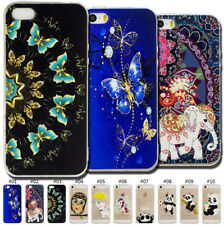Fashion Slim TPU Clear Skin Back Protected Soft Gel Case Cover For Apple iPhone