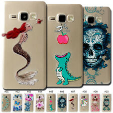 For Samsung Galaxy Skin Slim Silicone Clear TPU Painted Case Cover Soft Gel Back