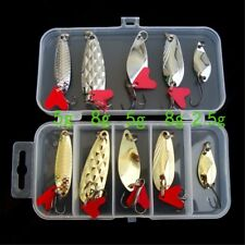 Mixed Colorful Trout Spoon Spinner Bass Tackle Metal Fishing Lures Baits