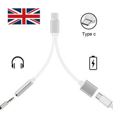 2 in 1 Type C USB-C To 3.5mm Aux Audio Headphone Jack Charging Cable Adapter