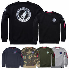 Alpha Industries Men's Sweater Space Shuttle Nasa Pullover S M L XL XXL 3XL