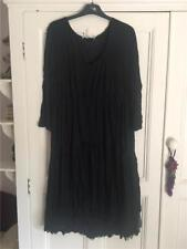 Lauren Vidal Black Crinkle Dress XL
