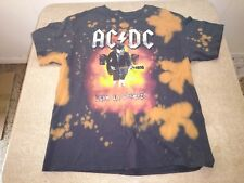 XL black AC DC -  LIVE IN CONCERT! ,heavy metal, hard rock, acid wash t-shirt.