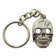 Lucky Number 7 Skull Keychain ~ Antiqued Pewter ~ Keychain
