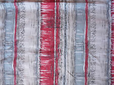 LONG LENGTH VINTAGE FRENCH 1960s MODERNIST PATTERN COTTON FABRIC USED,FADED,SOFT