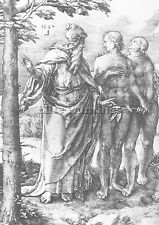 LUCAS VAN LEYDEN ADAM EVE EXPULSION FROM PARADISE  ARTIST PAINTING OIL CANVA ART