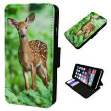 Wild Forest Doe Deer Wallet Phone Cover Mobile Smart Case Card Holder Premium