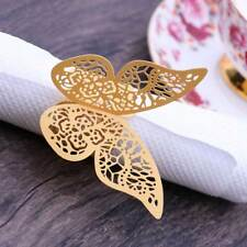 5pcs Paper Napkin Ring 3D Butterfly Exquisite Creative Napkin Bands for Party