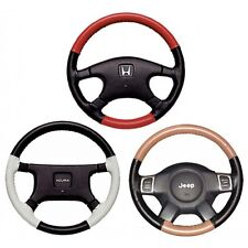 Custom Fit 1 - 2 Color Leather Steering Wheel Cover Wheelskins Perforated Size A