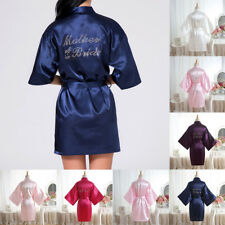 Silk Satin Bridesmaid Robes Gowns Bride Bathrobe Wedding Kimono Robe Dressing