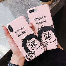 For iPhone XS Max XR X 8 7 6 Plus Cute Pig Phone Case Silicone TPU Cover